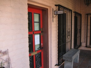 Front Door of the Gallery at 115 E Goodwin St. Prescott AZ